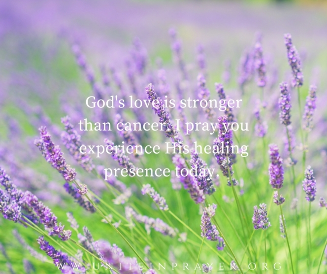 God's love is stronger than cancer.